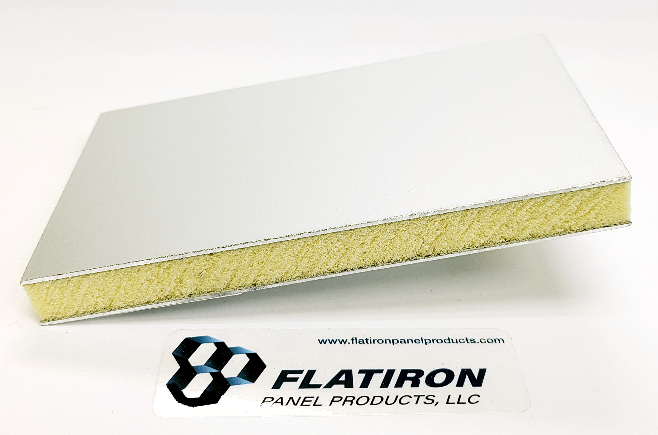 """Aluminum Face Skins, Clear Anodized FInish / P400 Polyiso Foam Core Panel - 0.500""""T x 48 Inch x 96 Inch"""