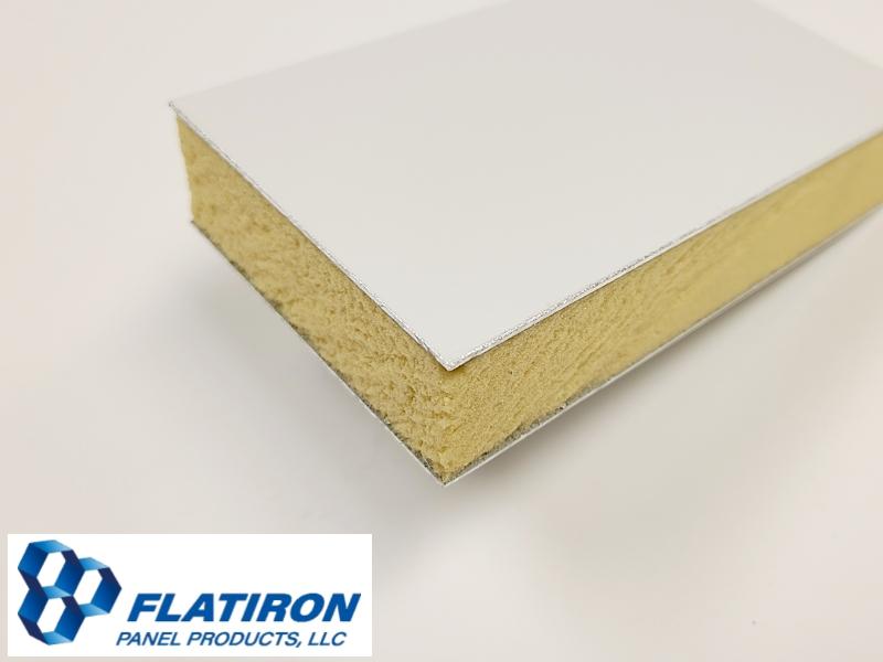 "Aluminum Face Skins, White Kynar FInish / P400 Polyiso Foam Core Panel - 1.000""T x 48 Inch x 96 Inch"