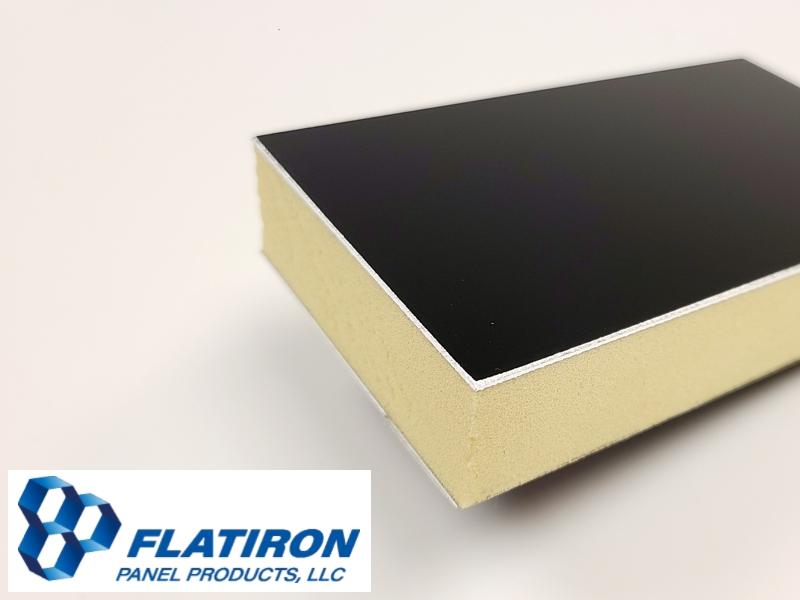 Black Kynar Face Skins / P400 Polyiso Foam Core Panel
